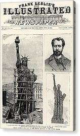 Statue Of Liberty, 1885 Acrylic Print by Granger
