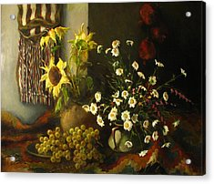 Still-life With Sunflowers Acrylic Print by Tigran Ghulyan