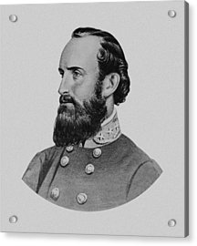 Stonewall Jackson Acrylic Print by War Is Hell Store