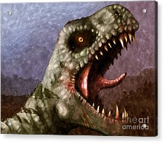 T-rex  Acrylic Print by Pixel  Chimp