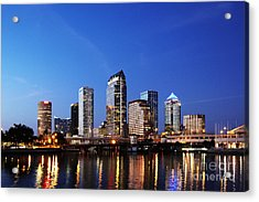 Tampa Skyline Acrylic Print by Skip Nall