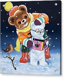 Teddy Bear Acrylic Print by William Francis Phillipps
