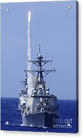 The Guided-missile Destroyer Uss Acrylic Print by Stocktrek Images