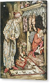 The Night Before Christmas Acrylic Print by Arthur Rackham