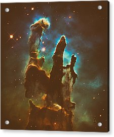 The Pillars Of Creation Acrylic Print by Mountain Dreams