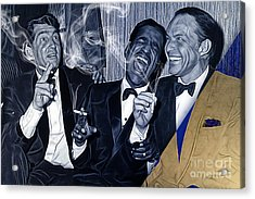 The Rat Pack Collection Acrylic Print by Marvin Blaine