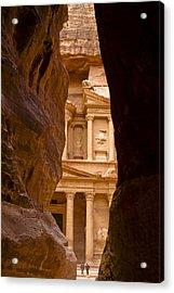 The Treasury Of Petra Acrylic Print by Michele Burgess