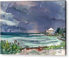 Thunderstorm Over Key West Acrylic Print by Donald Maier