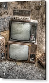 2 Tv's And A Radio Acrylic Print by Nathan Wright