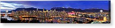 Vancouver Skyline Panorama Acrylic Print by Wesley Allen Shaw