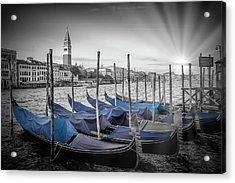 Venice Grand Canal And St Mark's Campanile Acrylic Print by Melanie Viola