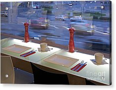 Window Seating In An Upscale Cafe Acrylic Print by Jaak Nilson