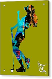 Womens Golf Collection Acrylic Print by Marvin Blaine