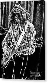 Jimmy Page Collection Acrylic Print by Marvin Blaine
