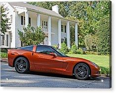 2005 Corvette C6 Acrylic Print by John Black