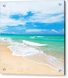 Beach Acrylic Print by MotHaiBaPhoto Prints