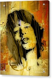 Mick Jagger Collection Acrylic Print by Marvin Blaine