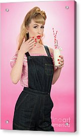 Pin Up Girl Acrylic Print by Amanda And Christopher Elwell