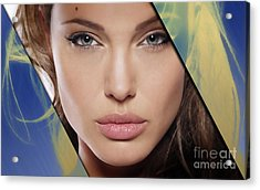 Angelina Jolie Collection Acrylic Print by Marvin Blaine