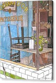 29  Croissant D'or Patisserie Acrylic Print by John Boles
