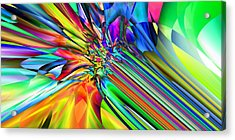 2x1 Abstract 308 Acrylic Print by Rolf Bertram