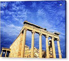 Acropolis Of Athens Acrylic Print by HD Connelly