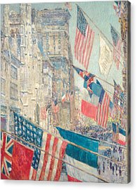 Allies Day, May 1917 Acrylic Print by Childe Hassam