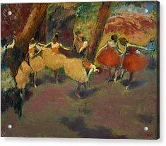 Before The Performance Acrylic Print by Edgar Degas
