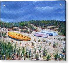 3 Boats Acrylic Print by Paul Walsh