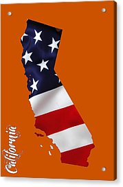 California State Map Collection Acrylic Print by Marvin Blaine
