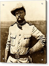 Colonel Theodore Roosevelt Acrylic Print by War Is Hell Store