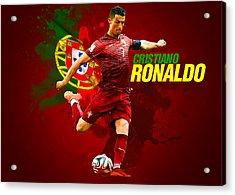 Cristiano Ronaldo Acrylic Print by Semih Yurdabak