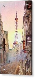 Eiffel Tower Paris France Acrylic Print by Irina Sztukowski