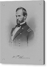 General William Tecumseh Sherman Acrylic Print by War Is Hell Store