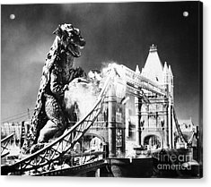 Godzilla Acrylic Print by Granger