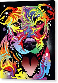 Happy Bull Acrylic Print by Dean Russo