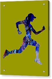 iRun Fitness Collection Acrylic Print by Marvin Blaine