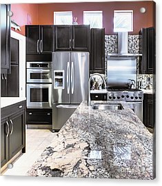 Modern Kitchen Interior Acrylic Print by Skip Nall