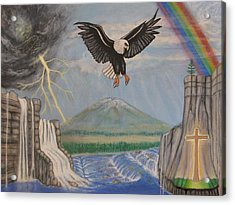 My Youth Is Renewed Like The Eagle's Acrylic Print by Neal David Reilly