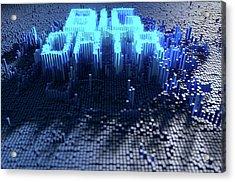 Pixel Big Data Concept Acrylic Print by Allan Swart