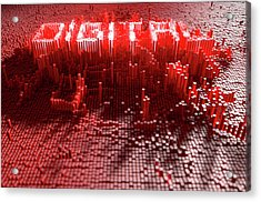 Pixel Digital Concept Acrylic Print by Allan Swart