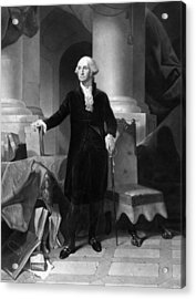 President George Washington  Acrylic Print by War Is Hell Store