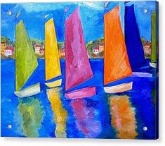 Reflections Of Tortola Acrylic Print by Patti Schermerhorn