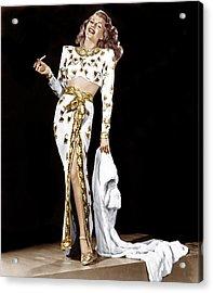 Rita Hayworth, 1940s Acrylic Print by Everett