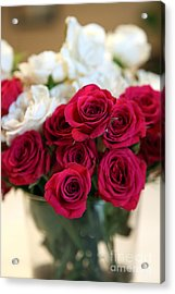 Roses Acrylic Print by Amanda Barcon
