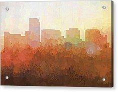 Rosslyn Virginia Skyline Acrylic Print by Marlene Watson