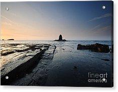 Saltwick Bay Acrylic Print by Stephen Smith