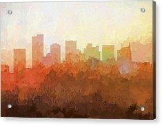 Scottsdale Arizona Skyline Acrylic Print by Marlene Watson