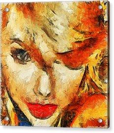 Taylor Swift Painting On Canvas. Acrylic Print by Sir Josef Social Critic - ART