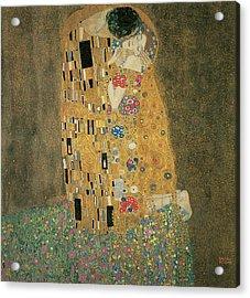 The Kiss Acrylic Print by Gustav Klimt
